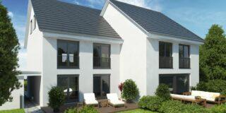 Hausansicht Süd Doppelhäuser Projektentwicklung