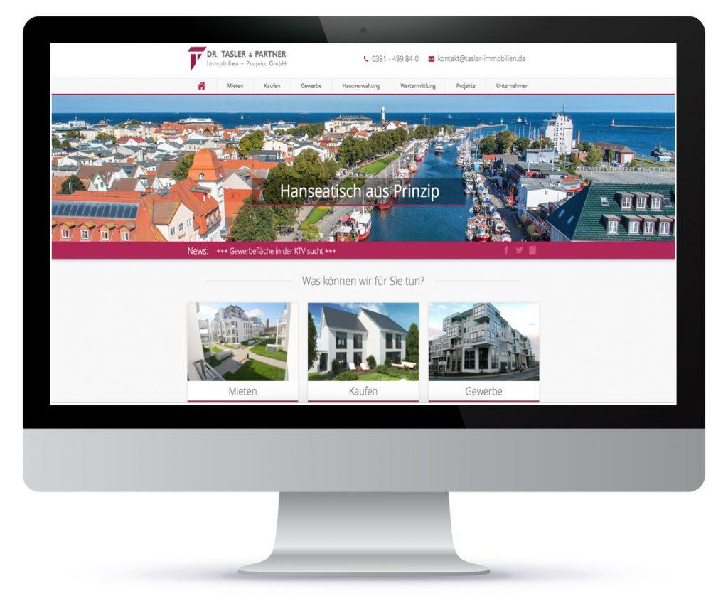 Bildschirm Mac mit neuer Homepage