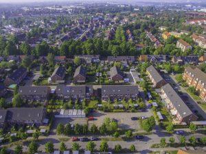 Luftaufnahme von der Gartenstadt in Rostock