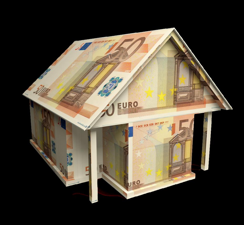 Haus aus 50 € Scheinen