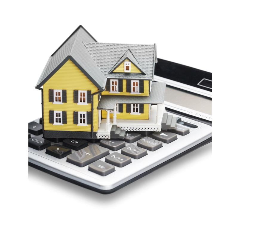 Gelbes Haus Auf Taschenrechner